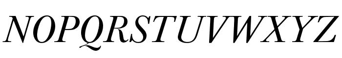 Baskerville URW Extra Narrow Regular Oblique Font UPPERCASE