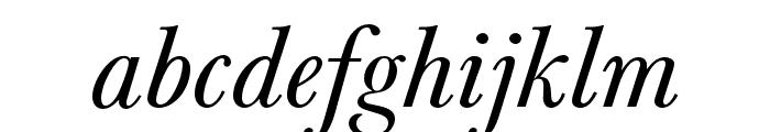 Baskerville URW Extra Narrow Regular Oblique Font LOWERCASE