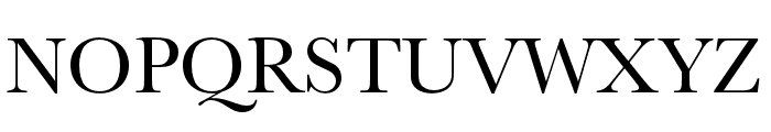 Baskerville URW Extra Narrow Regular Font UPPERCASE