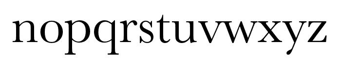 Baskerville URW Extra Narrow Regular Font LOWERCASE