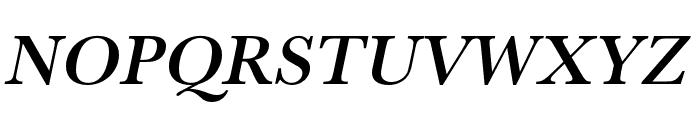 Baskerville URW Extra Wide Medium Oblique Font UPPERCASE