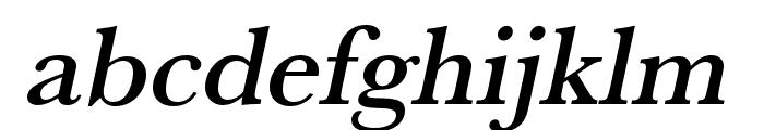 Baskerville URW Extra Wide Medium Oblique Font LOWERCASE