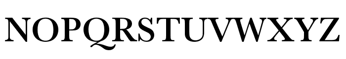 Baskerville URW Extra Wide Medium Font UPPERCASE