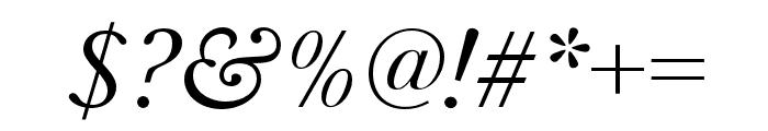 Baskerville URW Extra Wide Regular Oblique Font OTHER CHARS
