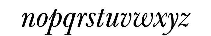 Baskerville URW Extra Wide Regular Oblique Font LOWERCASE