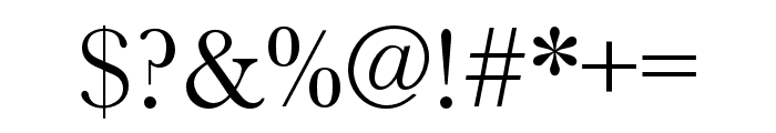 Baskerville URW Extra Wide Regular Font OTHER CHARS