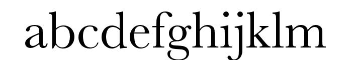 Baskerville URW Extra Wide Regular Font LOWERCASE