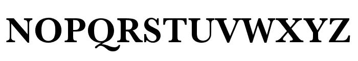 Baskerville URW Narrow Bold Font UPPERCASE