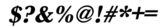 Baskerville URW Narrow Extra Bold Oblique Font OTHER CHARS