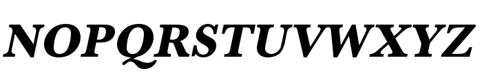Baskerville URW Narrow Extra Bold Oblique Font UPPERCASE