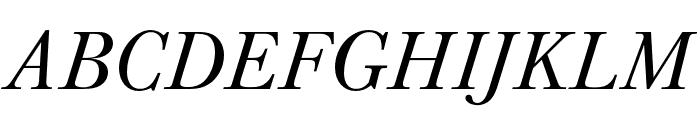 Baskerville URW Narrow Regular Oblique Font UPPERCASE