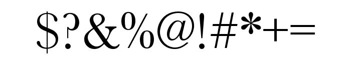 Baskerville URW Narrow Regular Font OTHER CHARS