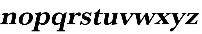 Baskerville URW Wide Bold Oblique Font LOWERCASE