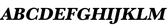 Baskerville URW Wide Extra Bold Oblique Font UPPERCASE