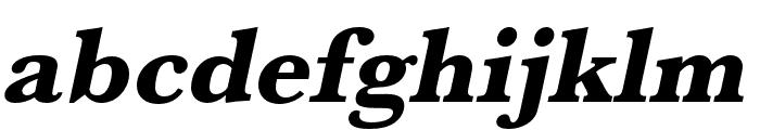Baskerville URW Wide Extra Bold Oblique Font LOWERCASE