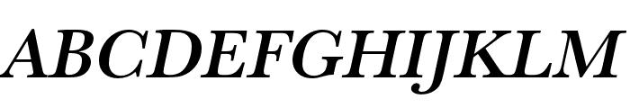Baskerville URW Wide Medium Oblique Font UPPERCASE