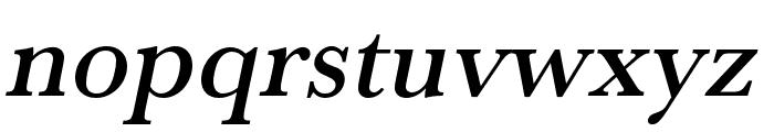 Baskerville URW Wide Medium Oblique Font LOWERCASE