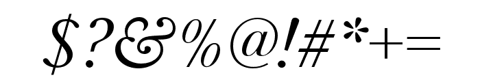 Baskerville URW Wide Regular Oblique Font OTHER CHARS