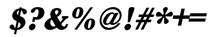 Baskerville URW Wide Ultra Bold Oblique Font OTHER CHARS