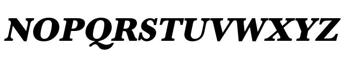 Baskerville URW Wide Ultra Bold Oblique Font UPPERCASE