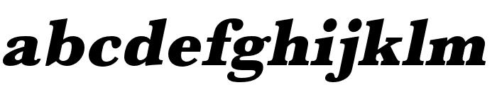 Baskerville URW Wide Ultra Bold Oblique Font LOWERCASE