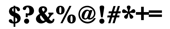 Baskerville URW Wide Ultra Bold Font OTHER CHARS