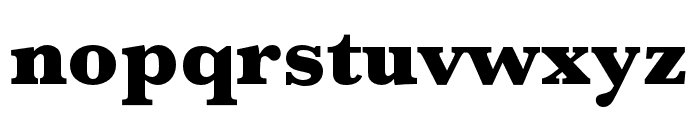 Baskerville URW Wide Ultra Bold Font LOWERCASE
