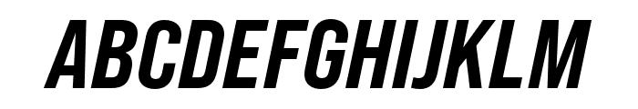 Bebas Neue Pro Expanded ExtraBold Italic Font UPPERCASE