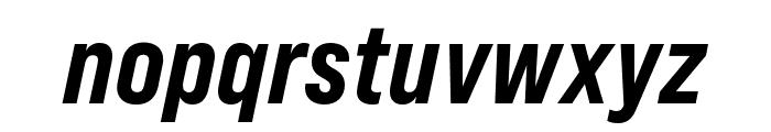 Bebas Neue Pro Expanded ExtraBold Italic Font LOWERCASE