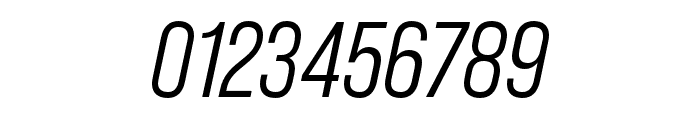 Bebas Neue Pro Middle Italic Font OTHER CHARS