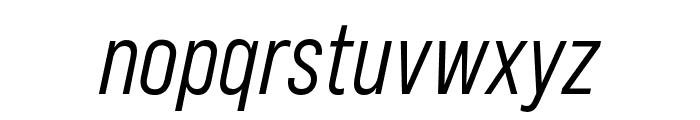 Bebas Neue Pro Middle Italic Font LOWERCASE