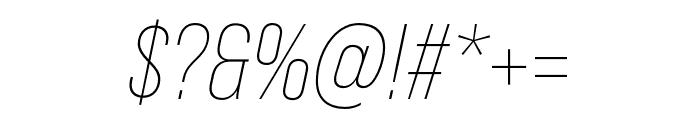 Bebas Neue Pro SemiExpanded Light Italic Font OTHER CHARS