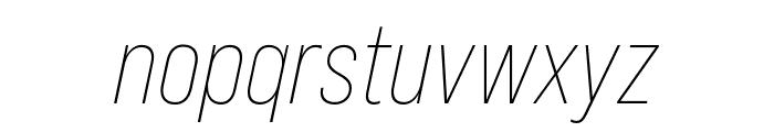Bebas Neue Pro SemiExpanded Light Italic Font LOWERCASE