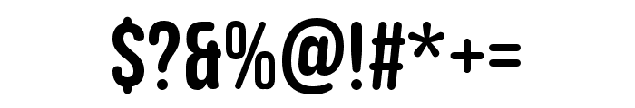 Bebas Neue Rounded Regular Font OTHER CHARS
