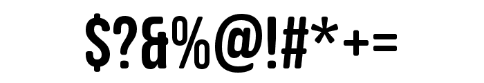 Bebas Neue SemiRounded Regular Font OTHER CHARS