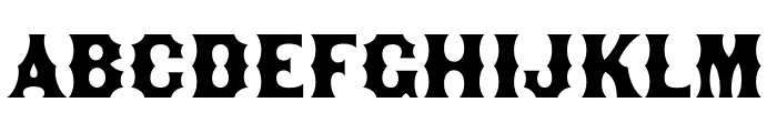 Becker Gothics Egyptian Rounded Font LOWERCASE
