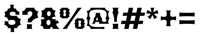 Becker Gothics Tuscan Font OTHER CHARS