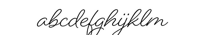 Beloved Sans Bold Font LOWERCASE