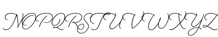 Beloved Script Regular Font UPPERCASE