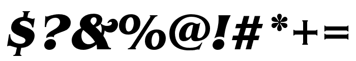 Benguiat Pro ITC Bold Condensed Italic Font OTHER CHARS