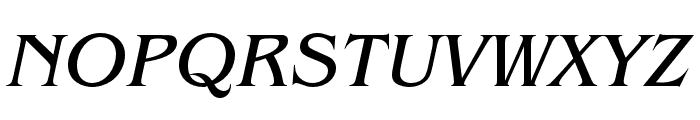 Benguiat Pro ITC Book Condensed Italic Font UPPERCASE