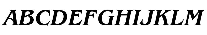 Benguiat Pro ITC Medium Condensed Italic Font UPPERCASE