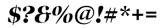 Bennet Banner Condensed Black Italic Font OTHER CHARS