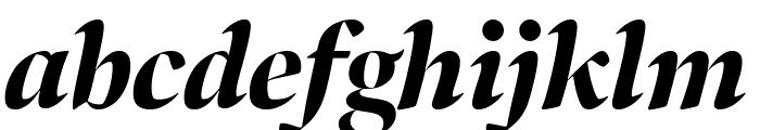Bennet Banner Condensed Black Italic Font LOWERCASE