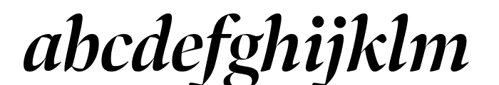 Bennet Banner Condensed Bold Italic Font LOWERCASE