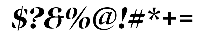 Bennet Banner Condensed Extra Bold Italic Font OTHER CHARS