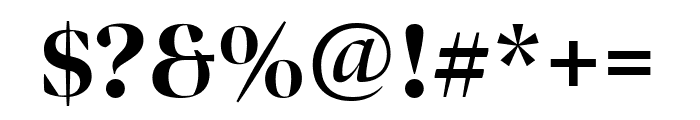 Bennet Banner Condensed Extra Bold Font OTHER CHARS