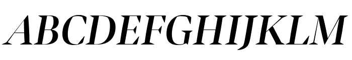 Bennet Banner Condensed Semi Bold Italic Font UPPERCASE