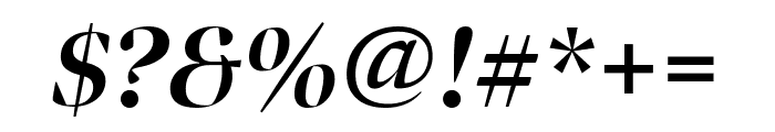 Bennet Banner Extra Condensed Bold Italic Font OTHER CHARS