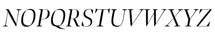 Bennet Banner Extra Condensed Light Italic Font UPPERCASE
